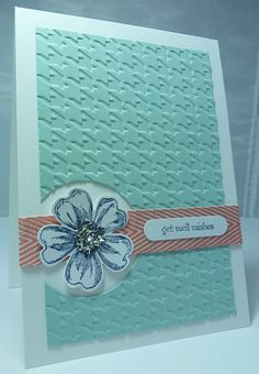 SU Stamp Punch Emboss Die cut Flower
