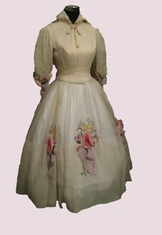 """From the glorious movie musical """"Dr Dolittle"""" comes this off-white see-through taffeta dress worn by Samantha Eggar as """"Emma Fairfax""""."""