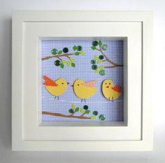 Quadrinho nicho com passarinhos