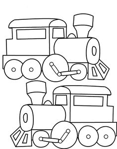 Old School Train Coloring Page