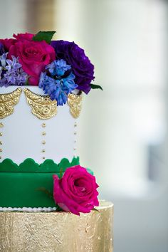 fancy jewel tone cake | Old South Studios #wedding