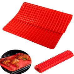 40*28CM Pyramid Bakeware Pan Nonstick Silicone Baking Mat Pads Easy Method for Oven Baking Tray Sheet Kitchen Tools #Affiliate