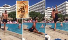 Aqua aerobics instructor channels his inner Beyonce during class
