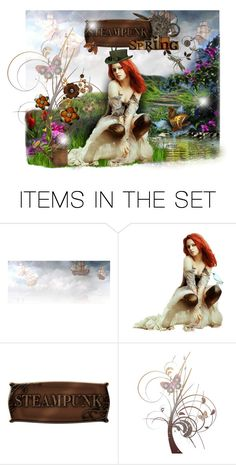 """""""Steampunk Spring"""" by sophisticatedignorance21 ❤ liked on Polyvore featuring art"""