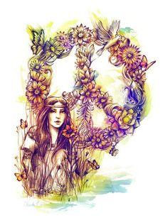 ☮ American Hippie Art ~ Peace Sign - brings back memories Hippie Peace, Hippie Love, Hippie Chick, Hippie Things, Hippie Vibes, Happy Hippie, Boho Hippie, Peace Love Happiness, Peace And Love
