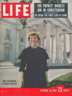 First Lady Mamie Eisenhower  Time/Life Cover by Ed Clark
