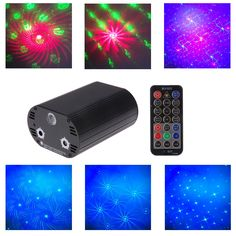 5W RGB Laser Remote Control LED Stage Lighting Projector For Disco Xmas Party