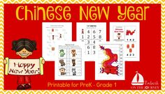 Free Chinese New Year Printable for PreK-Grade 1