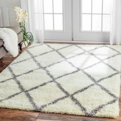 nuLOOM Moroccan Trellis Shag Rug (8' x 10') - Overstock Shopping - Great Deals on Nuloom 7x9 - 10x14 Rugs