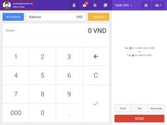 After opening #HotTab Cashier, click on staff account icon to change language