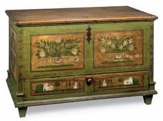 19th Century Mid-European Painted Chest.