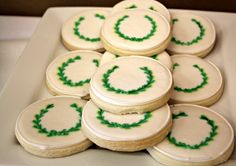Ancient Greece Olive Wreath Olympic cookies