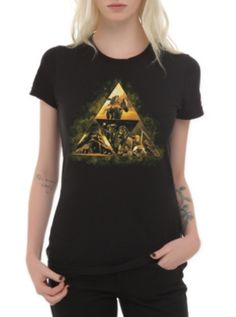 Nintendo The Legend Of Zelda: Ocarina Of Time 3D Triforce Story Girls T-Shirt