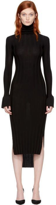 Khaite Black Wool Malina Dress