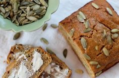 Roasted Butternut Squash Quick Bread by Daily Garnish - use modifications for muffins Snack Recipes, Dessert Recipes, Snacks, Fall Recipes, Bread Recipes, Crockpot Recipes, Chicken Recipes, Healthy Recipes, Homemade Desserts
