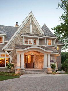 **Love the front door, double pillars & stone stairs!**