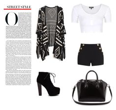 """""""Untitled #25"""" by chocolategirl13 ❤ liked on Polyvore featuring Boutique Moschino, Topshop and Givenchy"""