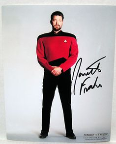 Jonathan Frakes Riker Orig Star Trek NG Autograph 8x10 | eBay