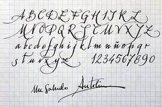 caligrafia para convites alfabeto - Pesquisa Google