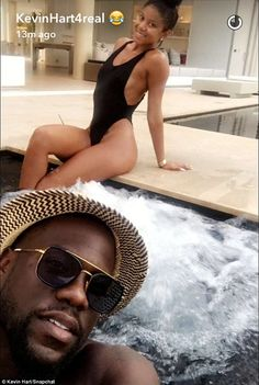 Happily ever after: Kevin Hart and his wife Eniko Parrish jetted off to their honeymoon following their wedding on Sunday