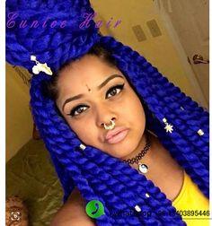 "Havana braids crochet 24""Jumbo Blue Havana"