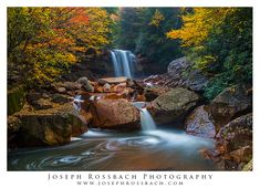Douglas Falls, a waterfall in the Monongahela National Forest of West Virginia.  Nature and landscape photography by Joseph Rossbach.