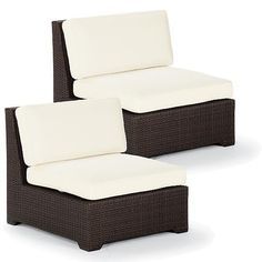 Palermo S/2 Center Chairs with Cushions in Bronze Finish