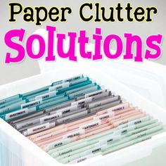 Paper Clutter Organization Ideas - Pilers vs. Filers - A Showdown In Paper Organization Paperwork and document storage solutions for everyone