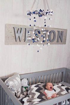Gorgeous nursery via GreyLikesBaby!