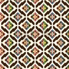 seamless abstract ethnic geometric pattern mural