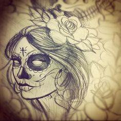 La Catrina sketch - Tattoo