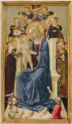 Niccolò da Foligno, The Madonna Enthroned, from a triptych, 15th century, Harvard Art Museums/Fogg Museum.