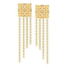 Netri Carved Drop Earrings