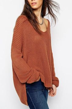 Dark Orange Sweater