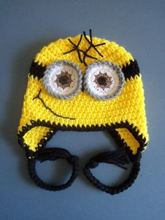 Crochet Minion Hat, Crochet Despicable Me Hat, Toddler, Baby Boy - Made To Order on Etsy, $20.00