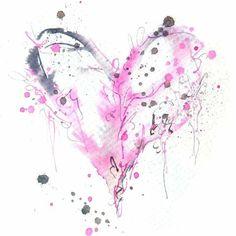 Pin by emma byrne mills on tattoos эскизы татуировок, рисунк Watercolor Heart Tattoos, Watercolor Paintings, Watercolours, Great Tattoos, Body Art Tattoos, Inspiration Drawing, Tattoo Mutter, Heart Tattoo Designs, Heart Painting