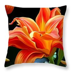 Flower Painting Throw Pillow featuring the painting Flaming Flower by Patricia Griffin Brett