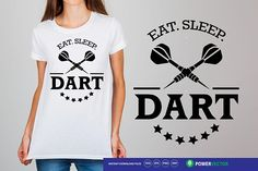 Eat Sleep Dart Svg. Darts Svg. Dart Player Shirt, Iron on Design. Darts Cutting Files for Cricut, Silhouette - Svg, Dxf, Png Eps, Jpg Files