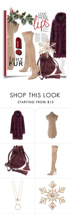 """""""Faux Fur Coats"""" by kari-c ❤ liked on Polyvore featuring Anna Sui, Allude, Kendall + Kylie, Kate Spade, John Lewis and fauxfurcoats"""