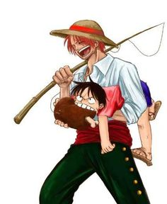 Red Hair Shanks with Luffy