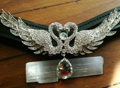 Unique Swan Teardrop Gem Bling Browband for Horse by OkoKonia