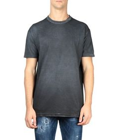 DSQUARED2 T-Shirt Jersey Di Cotone Washed. #dsquared2 #cloth #washed