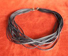 Strand Bike Tube Necklace Loose by TruePartnersInCraft on Etsy
