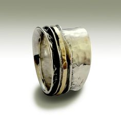 Wedding band Sterling silver band unisex band by artisanlook