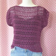 Gehaakt truitje Love Crochet, Crochet Top, Oversize Pullover, Winter Mode, Crochet Patterns, Women, Coats, Jackets, Decor
