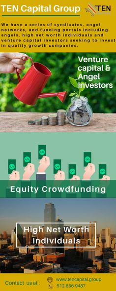 If you have a business idea and have been searching for an investor or funding services in Texas? Then no worries, contact with #TenCapitalGroup.  At TEN we give investors the opportunity to invest in venture capital-backed companies, angel-funded deals and Texas community funded deals. We provide deals with equity, convertible notes, revenue-based funding, and loans. we can help you build out your #ICO no matter where you are located.  Need more help contact us.