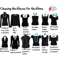 Top pinned images of 2013.  what necklace to use with different necklines