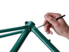 Lug lining pen. An ideal tool for anyone wishing to have a go at lug lining their own bicycle frame. The final photo shows one of our customers effort
