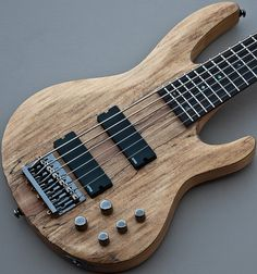 ESP LTD STANDARD 6-STRING B-416SM SPALTED NATURAL ELECTRIC BASS GUITAR +EMGs