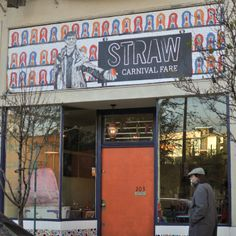 Straw - A carnival themed restaurant. Cotton Candy cocktails, Monte Cristos, mac and cheese. Looks like we could maybe walk there from Alamo Square Park?